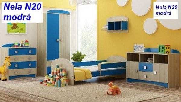 Postel Nela N20 140/70 cm + matrace modrá