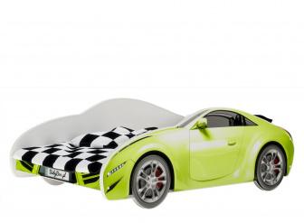 Postel S-Cars 160/80 cm + rošt zelená