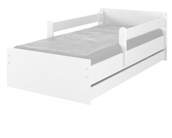 Postel Max 160/80 cm + šuplík + rošt - bílá