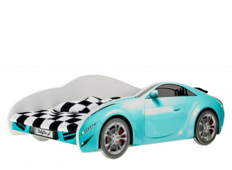 Postel S-Cars 160/80 cm + rošt modrá