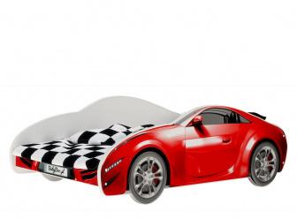 Postel S-Cars 160/80 cm + rošt červená