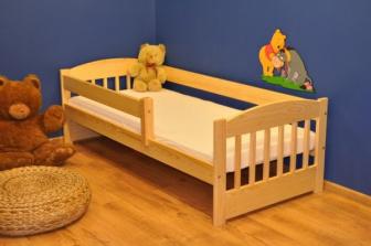Dětská postel Edík 160x80 cm + matrace - masiv borovice