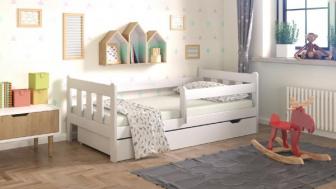 Šuplík pod postel 160 cm borovice bílá