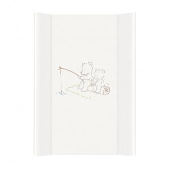 Přebalovací podložka tvrdá - medvídci bílá