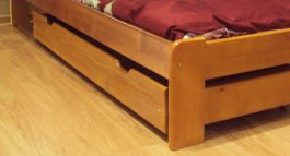 Zvýšený šuplík pod postel 200 cm olše