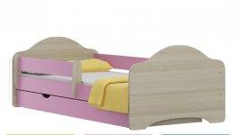 Postel Ondřej N22 180/90 cm + matrace + šuplík růžový