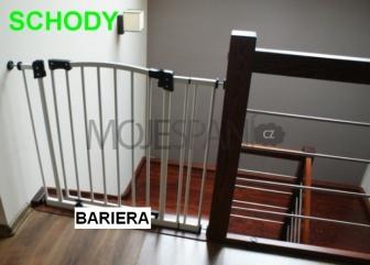 Zábrana dveře, schody 73 - 82 cm