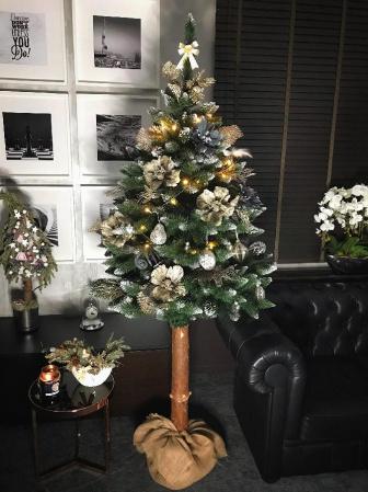 Vánoční stromeček umělý - přírodní kmen 160 cm