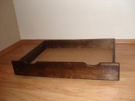 Zvýšený šuplík pod postel 200 cm ořech