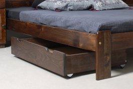 Zvýšený šuplík pod postel 98 cm ořech