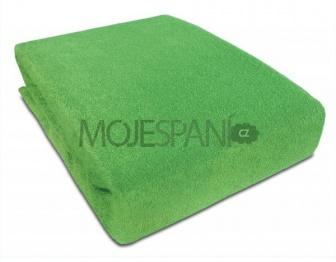 Frote prostěradlo s gumkou 180/200 cm - zelená