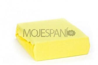 Frote prostěradlo s gumkou 180/200 cm - žlutá